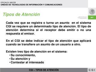 Tipos de Atención