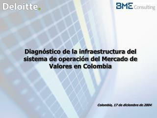 Diagnóstico de la infraestructura del sistema de operación del Mercado de Valores en Colombia