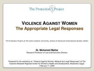 Violence Against Women The Appropriate Legal Responses