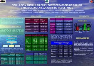 FIBRILACION AURICULAR EN EL POSTOPERATORIO DE CIRUGIA CARDIOVASCULAR. ANALISIS DE RESULTADOS