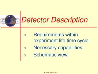 Detector Description