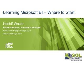 Learning Microsoft BI – Where to Start