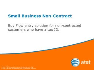 Small Business Non-Contract