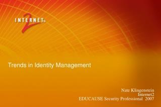 Trends in Identity Management