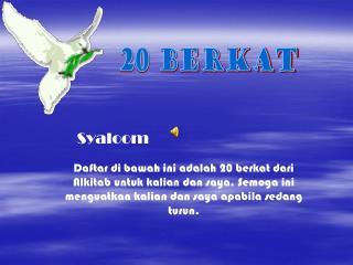 20 Berkat