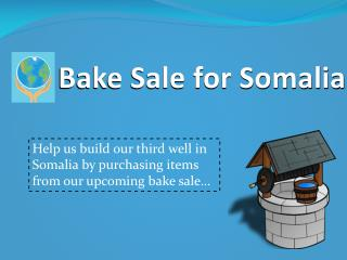 Bake Sale for Somalia
