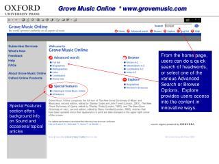 Grove Music