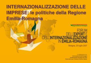 In collaborazione con:  Unioncamere Emilia-Romagna     Coordinamento Interregionale Fiere