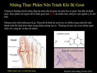 Nh?ng Th?c Ph?m N�n Tr�nh Khi B? Gout