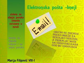 Elektronska po�ta - Imejl