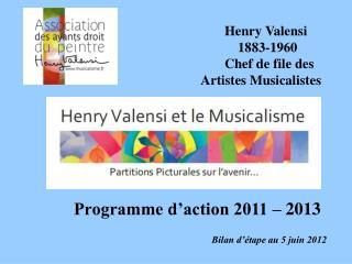 Programme d'action 2011 – 2013