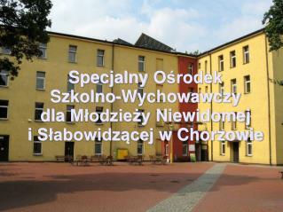 Specjalny Ośrodek Szkolno-Wychowawczy dla Młodzieży Niewidomej i Słabowidzącej  w  Chorzowie
