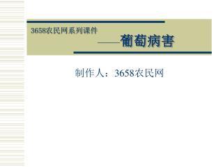 3658 农民网系列课件 —— 葡萄病害