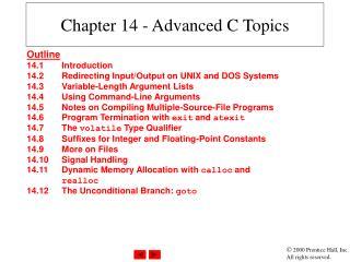 Chapter 14 - Advanced C Topics