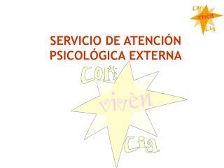 SERVICIO DE ATENCIÓN PSICOLÓGICA EXTERNA