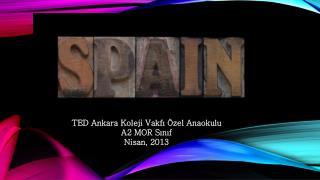 TED Ankara Koleji Vakf? �zel Anaokulu A2  MOR  S?n?f Nisan, 2013