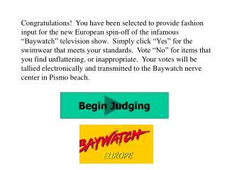 Begin Judging