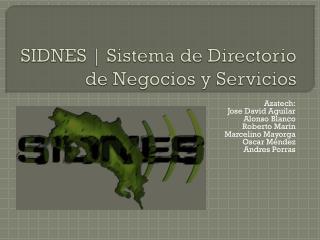 SIDNES  | Sistema de Directorio de Negocios y Servicios