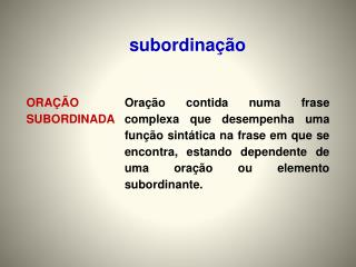 subordinação