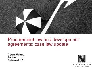 Procurement law and development agreements: case law update
