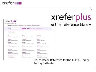 xrefer plus online reference library