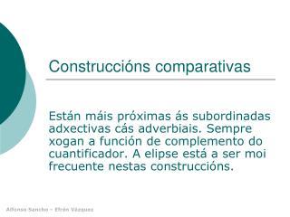 Construccións comparativas