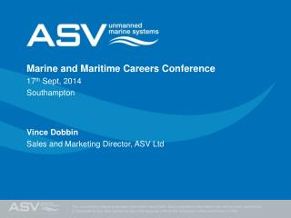 Marine and Maritime Careers Conference 17 th  Sept, 2014 Southampton Vince Dobbin