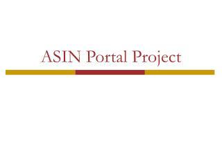 ASIN Portal Project