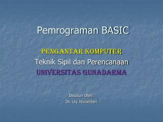 Pemrograman BASIC