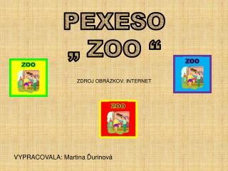 """PEXESO """" ZOO """" ZDROJ OBRÁZKOV: INTERNET"""