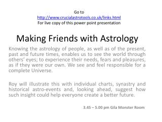 Making Friends with Astrology