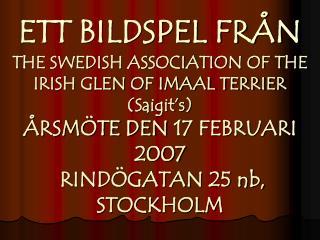 ETT BILDSPEL FR�N �rsm�te 2007