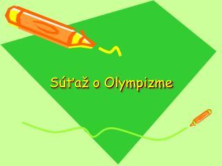Súťaž o Olympizme