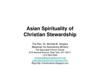Asian Spirituality of  Christian Stewardship