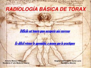 RADIOLOGÍA BÁSICA DE TÓRAX
