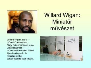 Willard Wigan: Miniatűr művészet