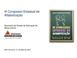 III Congresso Estadual de Alfabetização