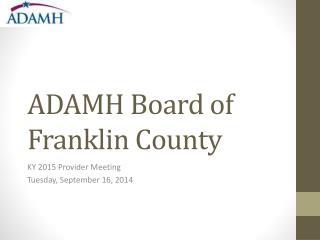 ADAMH Board of Franklin County