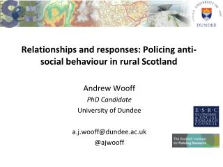 Relationships and responses: Policing anti-social behaviour in rural Scotland