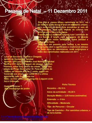 Passeio de Natal  – 11 Dezembro 2011