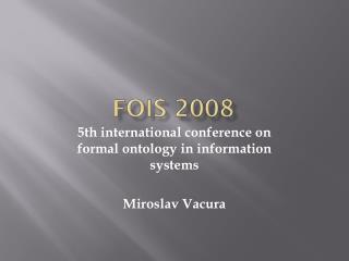 FOIS 2008