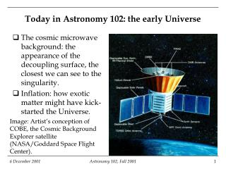 Today in Astronomy 102: the early Universe