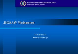 JIGSAW Webserver