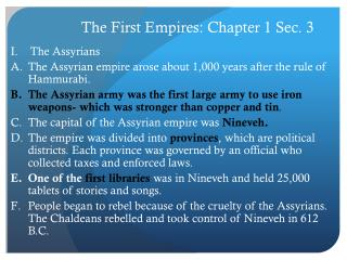 The First Empires: Chapter 1 Sec. 3