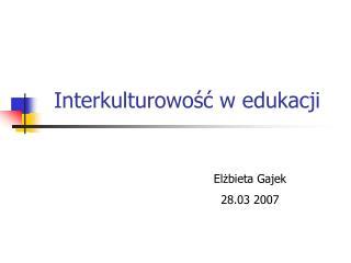Interkulturowość w edukacji