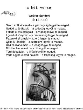 Weöres Sándor: