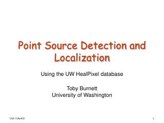 Point Source Detection and Localization
