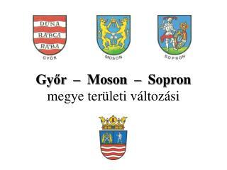 Győr  –  Moson  –  Sopron megye területi változási