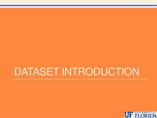 Dataset introduction