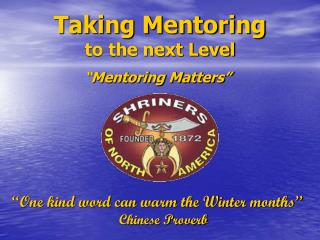 Taking Mentoring to the next Level
